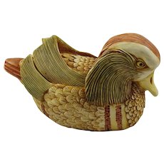 Harmony Kingdom Drake's Fancy Mandarin Duck Large Treasure Jest Box Figurine