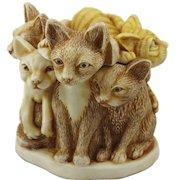 Harmony Kingdom Fur Ball Small Treasure Jest Box Figurine with Cats
