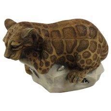 Harmony Kingdom Sweet Spot Small Treasure Jest Box Figurine with Leopard