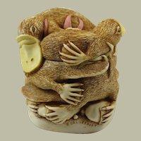 Harmony Kingdom Down Under Small Treasure Jest Box Figurine with Platypuses
