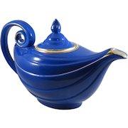 Vintage Hall Aladdin Teapot in Cobalt Blue and Gold