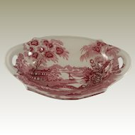 Royal Staffordshire Red Tonquin Soap Dish by Clarice Cliff