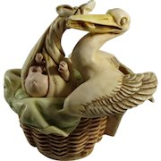 Harmony Kingdom Special Delivery Treasure Jest Box Figurine with Stork and Baby