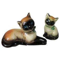 Goebel Siamese Mother Cat and Kitten Figurines from West Germany