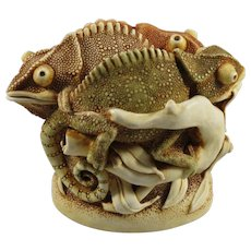 Harmony Kingdom Changing of the Guard Treasure Jest Box Figurine with Chameleons