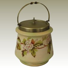 Wiltshaw & Robinson Carlton Ware English Biscuit Jar c 1894-1926