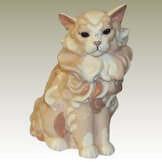Awesome Kay Finch Ambrosia Ceramic Cat Figurine