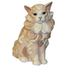 Awesome Kay Finch Ambrosia Ceramic Cat Figurine
