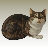 Fascination Tabby Cat Figurine by Eric Tenney for Franklin Mint