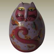 Laurel Burch Floating Feline Egg Shaped Cat Figurine by Franklin Mint