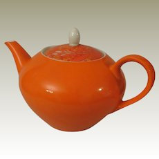 Holt Howard Bright Orange Teapot c 1960s
