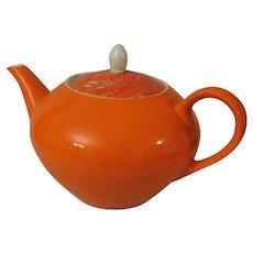 Holt Howard Bright Orange Teapot c 1960s