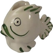 Small Ceramic Fish Shaped Creamer or Planter