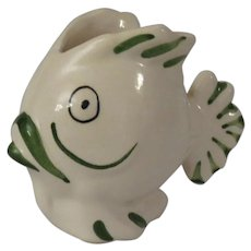 Small Ceramic Fish Shaped Creamer or Planter