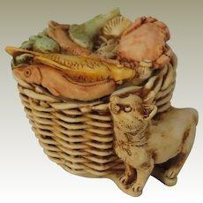 Harmony Kingdom Limited Edition Kitty's Kipper Treasure Jest Box Figurine