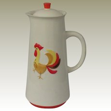 Holt Howard Coq Rouge Red Rooster Coffee Server Pot