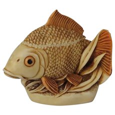 Harmony Kingdom Midas Touch Treasure Jest Box Figurine with Gold Fish