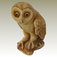 Ollie the Owl Signed Harmony Kingdom NetsUKe Treasure Jest Figurine