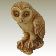 Ollie the Owl Signed Harmony Kingdom NetsUKe Treasure Jest Figurine