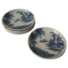 Johnson Brothers The Old Blue Mill Set of 5 Coasters