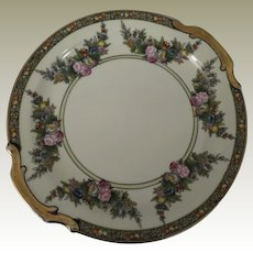 Beautiful Floral and Gold Noritake Cake Plate c 1918-1941