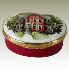 Halcyon Days Enamel Box Designed By Tiffany & Co Home Is Where The Heart Is