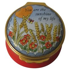 Halcyon Days Enamel Box You Are the Sunshine of My Life
