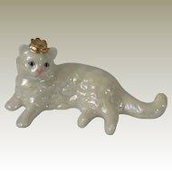 Franklin Mint Lustre Glaze Curio Cabinet Cat