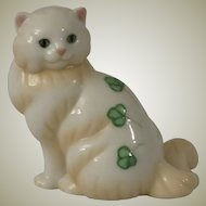 Franklin Mint Belleek Curio Cabinet Cat