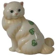 Franklin Mint Belleek Curio Cabinet Cat
