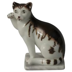 Franklin Mint 18th Century German Style Curio Cabinet Cat