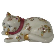 Franklin Mint Curio Cabinet Satsuma Cat