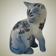 Franklin Mint Delft Curio Cabinet  Cat