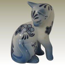 Franklin Mint Delft Curio Cabinet  Cat