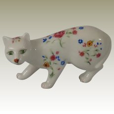 Franklin Mint Faience Curio Cabinet Cat