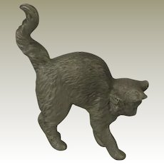 Franklin Mint American Pewter Curio Cabinet Cat