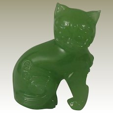 Franklin Mint Ching Dynasty Jade Curio Cabinet Cat