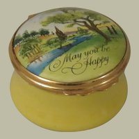 Halcyon Days Bilston and Battersea Enamel Box May You Be Happy