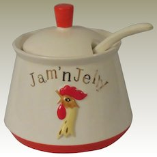 Holt Howard Coq Rouge Red Rooster Jam'n Jelly Jar