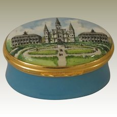 Halcyon Days Bilston & Battersea Enamel Box Jackson Square New Orleans Louisiana for Waldhorn Company