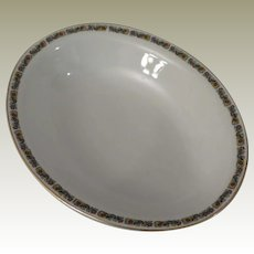 H & C Heinrich & Co Selb Bavaria Floral Band Large Oval Serving Dish