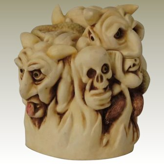 Harmony Kingdom Paradise Lost Treasure Jest Box Figurine from the Paradoxicals Series with Demons