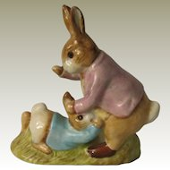 Beswick Beatrix Potter Mr Benjamin Bunny and Peter Rabbit Figurine