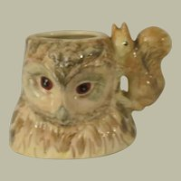 Beswick Beatrix Potter Old Mr Brown Owl Character Jug with Squirrel Nutkin Handle