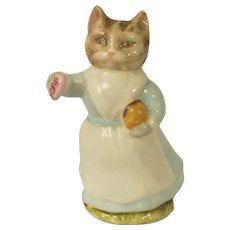 Beswick Beatrix Potter Tabitha Twitchit Cat Figurine