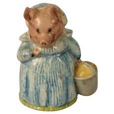 Beswick Beatrix Potter Aunt Pettitoes Pig Figurine