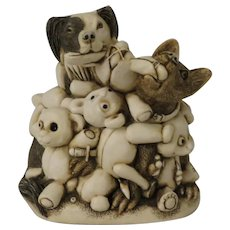 Harmony Kingdom Perished Teddies (now called Petty  Teddies) Treasure Jest Box Figurine