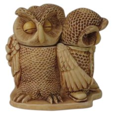 Harmony Kingdom Wise Guys Treasure Jest Box Figurine with Owls