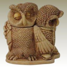 Harmony Kingdom Wise Guys Treasure Jest Box Figurine with Owls