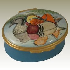 Halcyon Days Mandarin Ducks Enamel Box